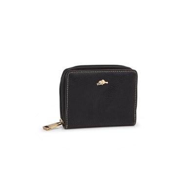 Lds Tremblant black snap wallet