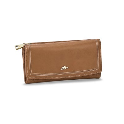 Lds Habitant brown trifold clutch