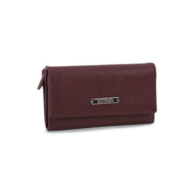 Lds Avila dark plum tab clutch