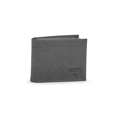 Mns Creek grey slimfold top flap wallet
