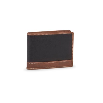 Mns Arrow blk slimfold centre ID wallet
