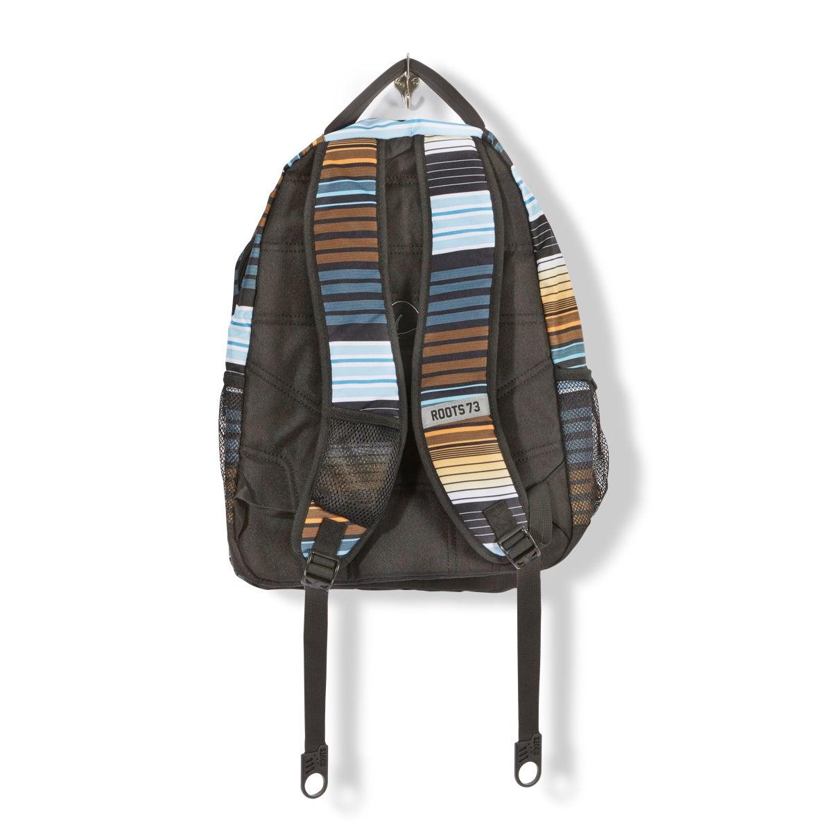 Unisex Roots73 blk/org stripe backpack