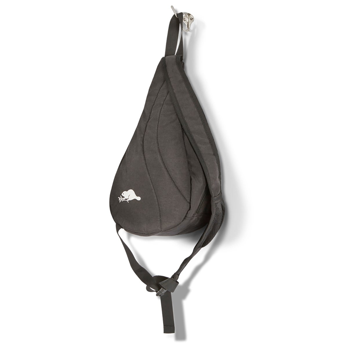 Unisex Roots73 grey polyester sling bag