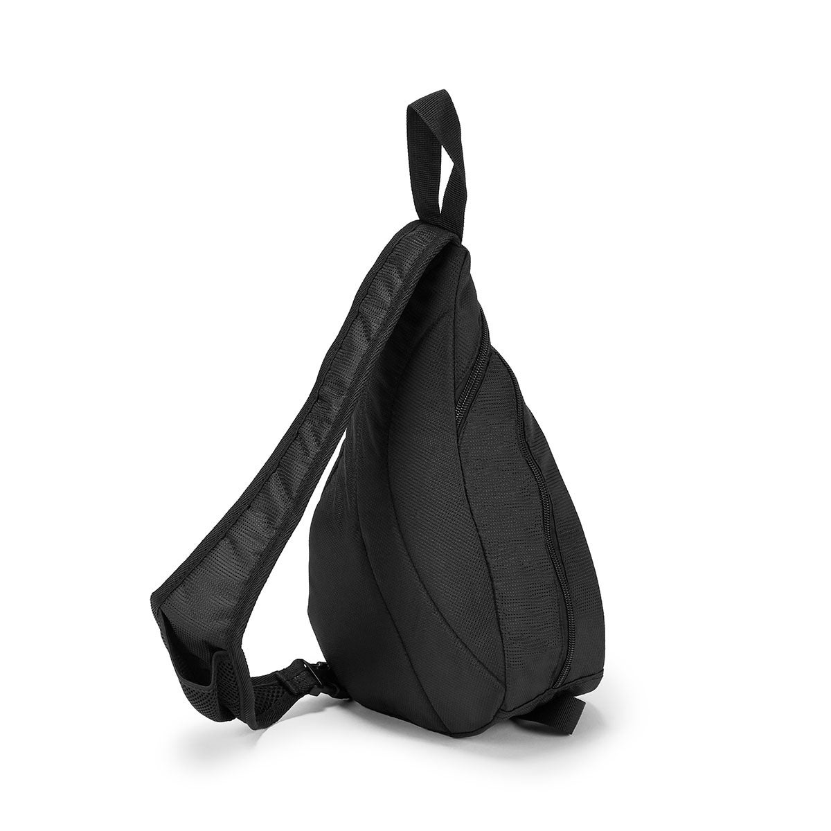 Unisex Roots73 black polyester sling bag