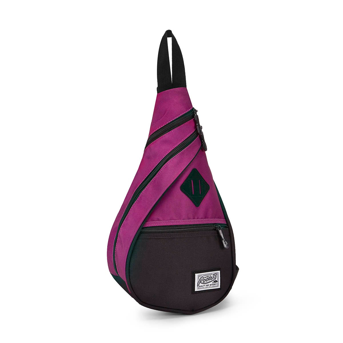 Unisex Roots73 purplepolyester sling bag