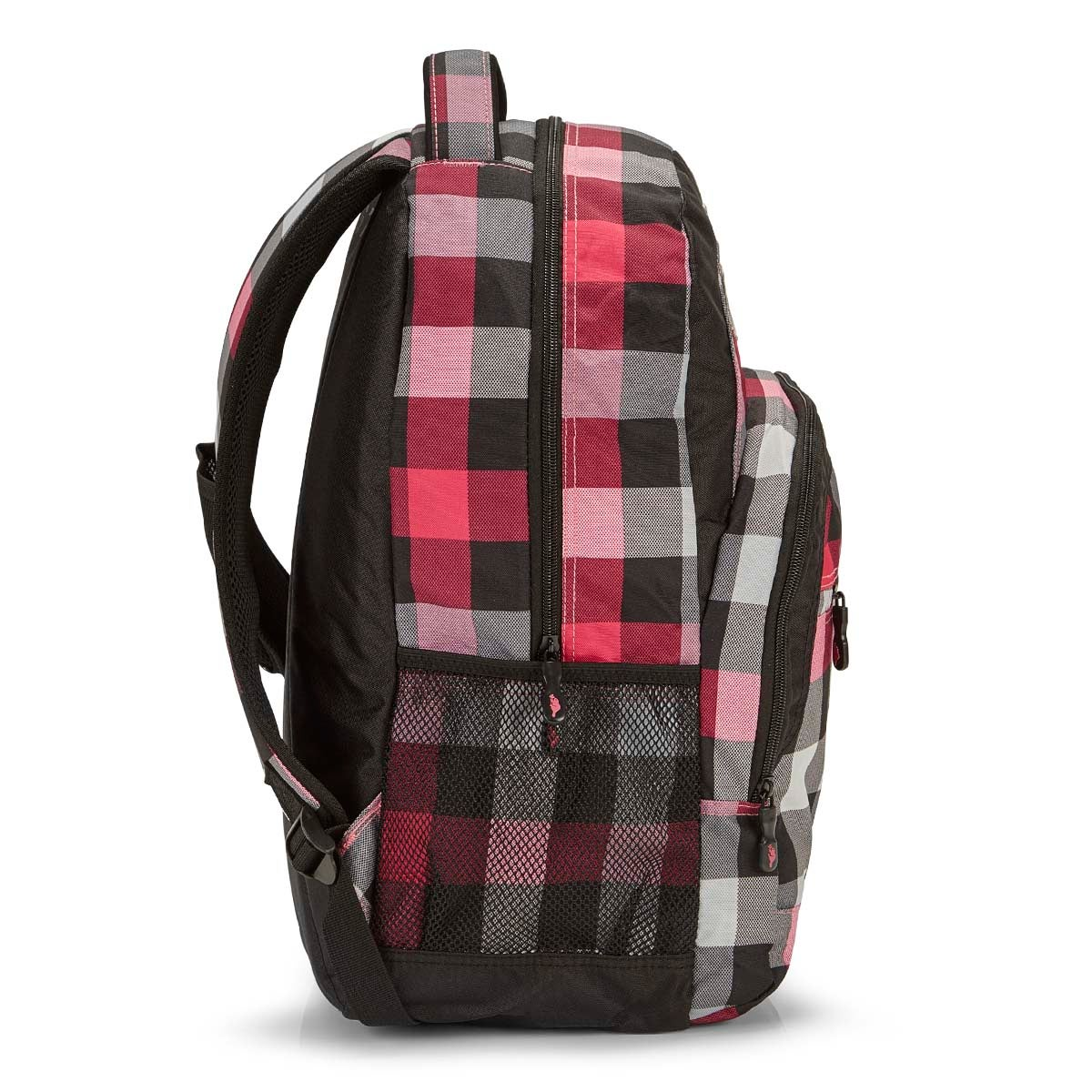 Lds Roots73 pink plaid backpack