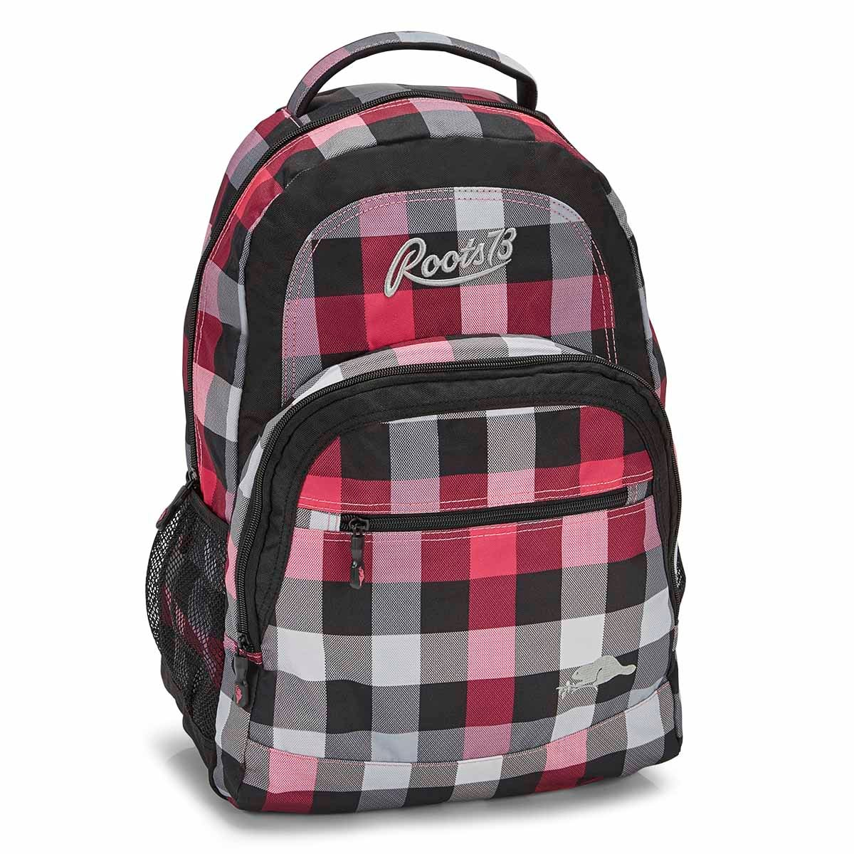 Women's RTS4503 pink plaid backpack