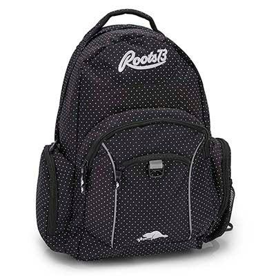 Roots73 black polka dot backpack