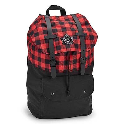 Roots Unisex ROOTS73 black/red paid backpack