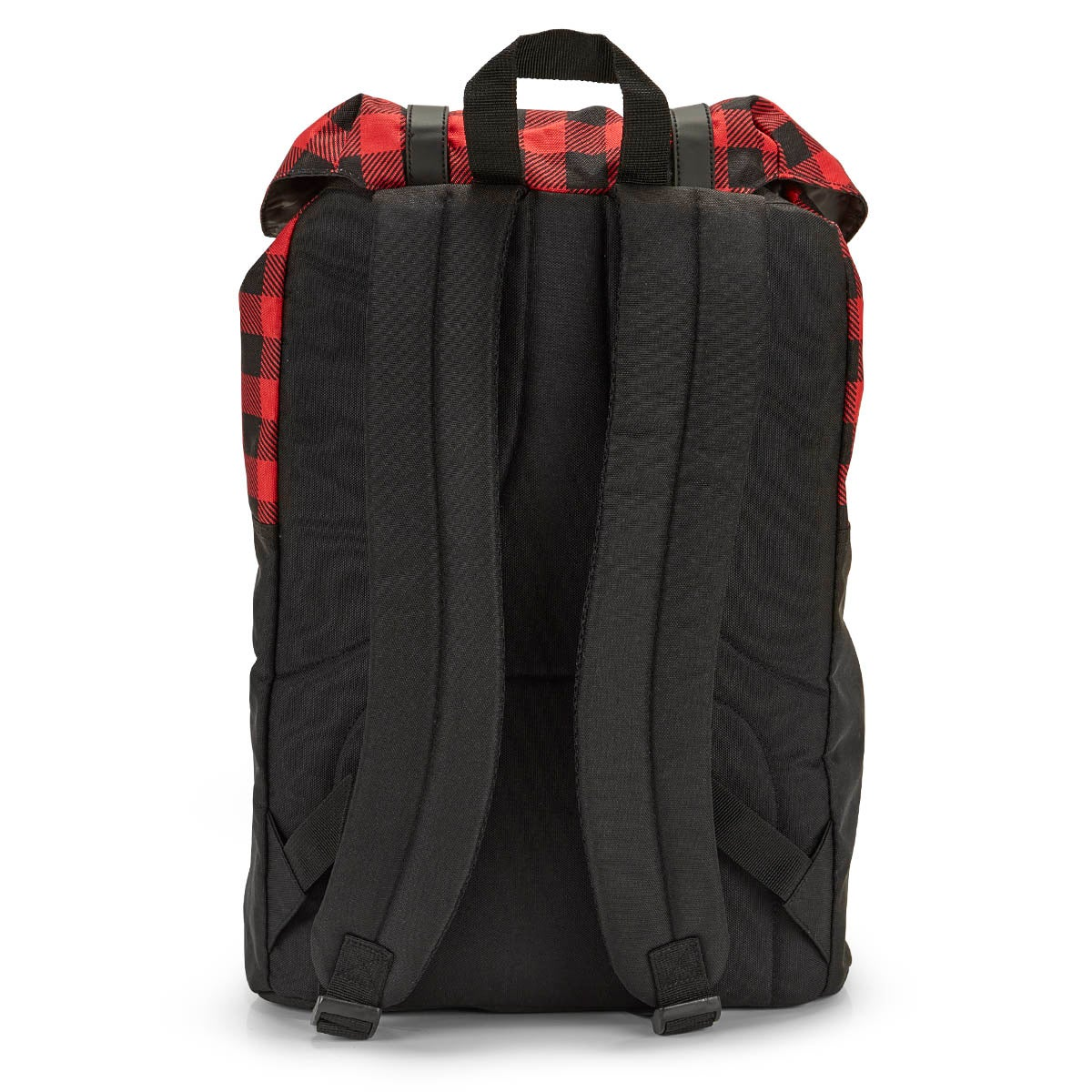 Roots73 black/red plaid backpack