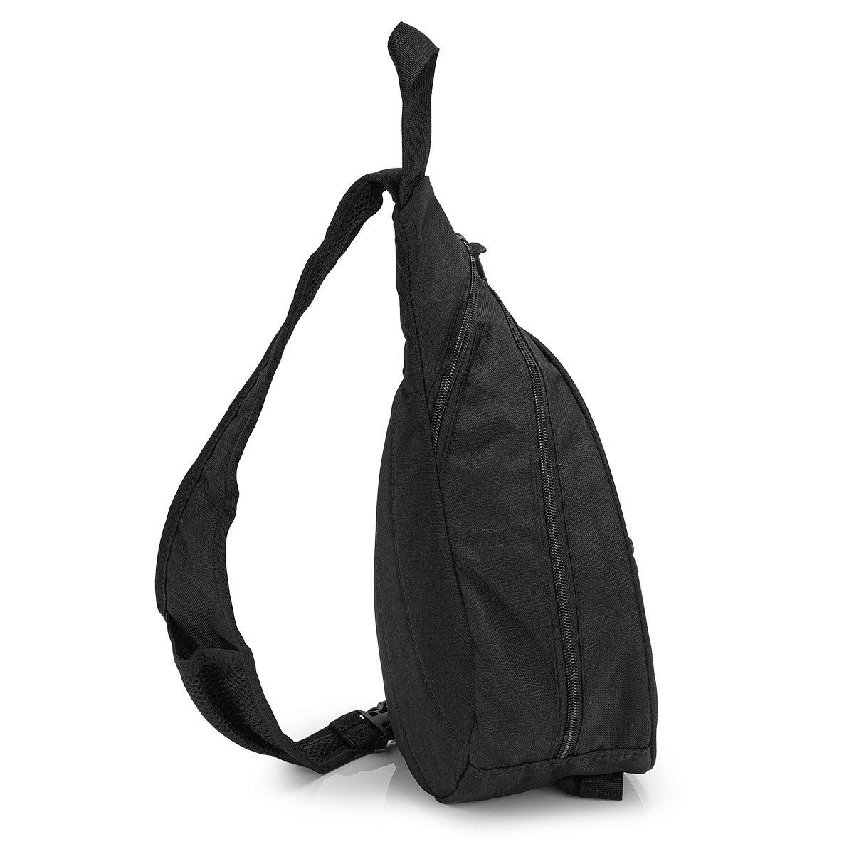 Roots black sling backpack