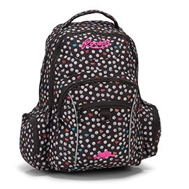 Roots Women's RTS4602 black heart print backpack