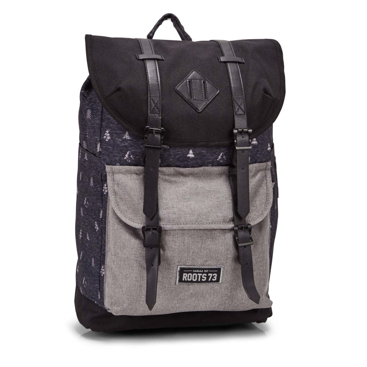 Roots73 grey tree backpack