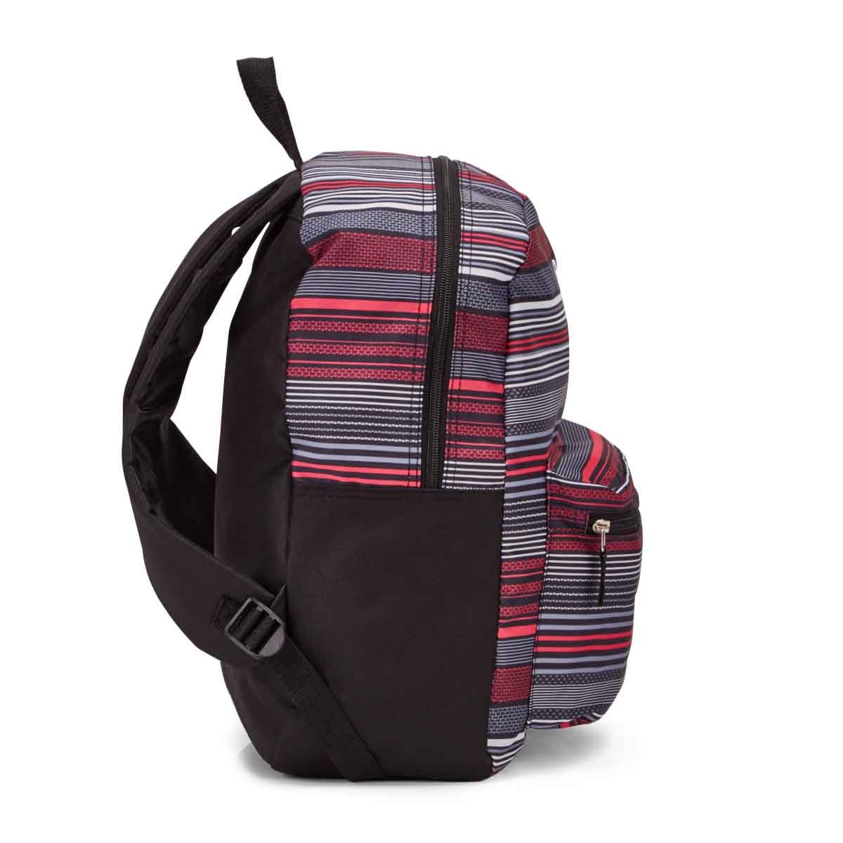 Lds Roots73 pnk/gry stripe backpack