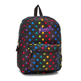 Roots Women's RTS4620 mulit coloured dots backpack