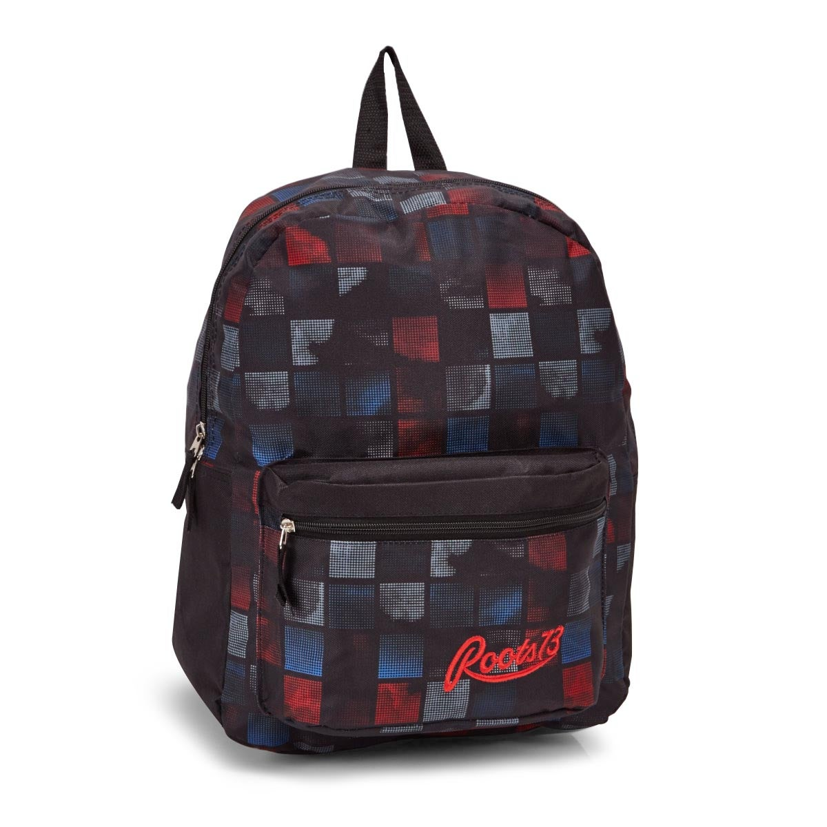 Roots73 blk/red/blu plaid backpack