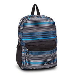 Roots Women's RTS4620 grey/blue/black stripe backpack
