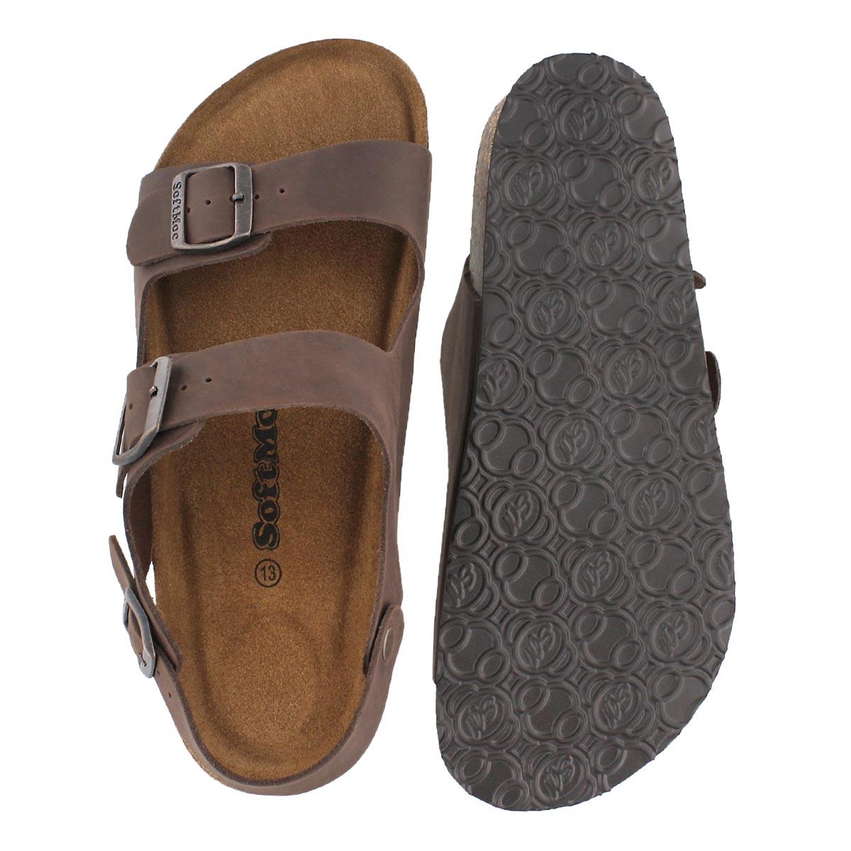 Mns Ruben 5 brn crz memory foam sandal