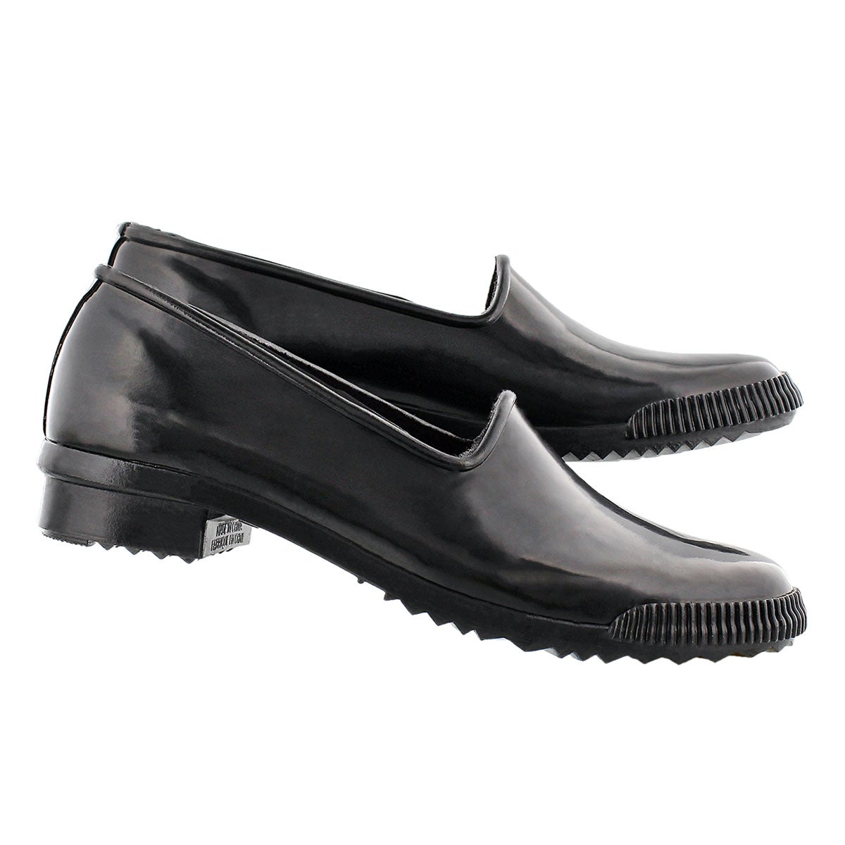Lds Ruby blk gloss rubber loafer