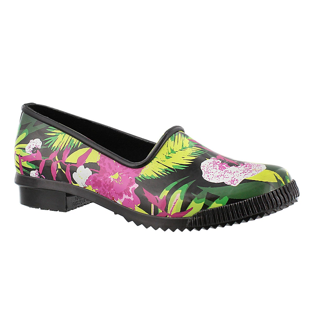 Lds Ruby flora print rubber loafer