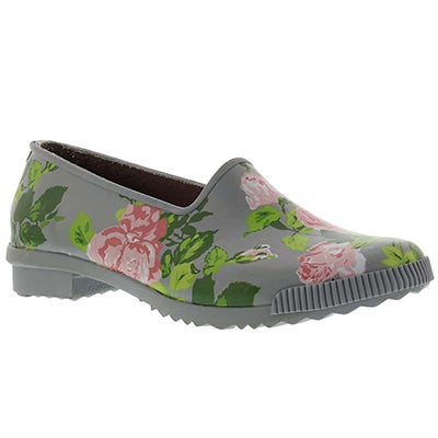 Cougar Women's RUBY tea rose print rubber loafers