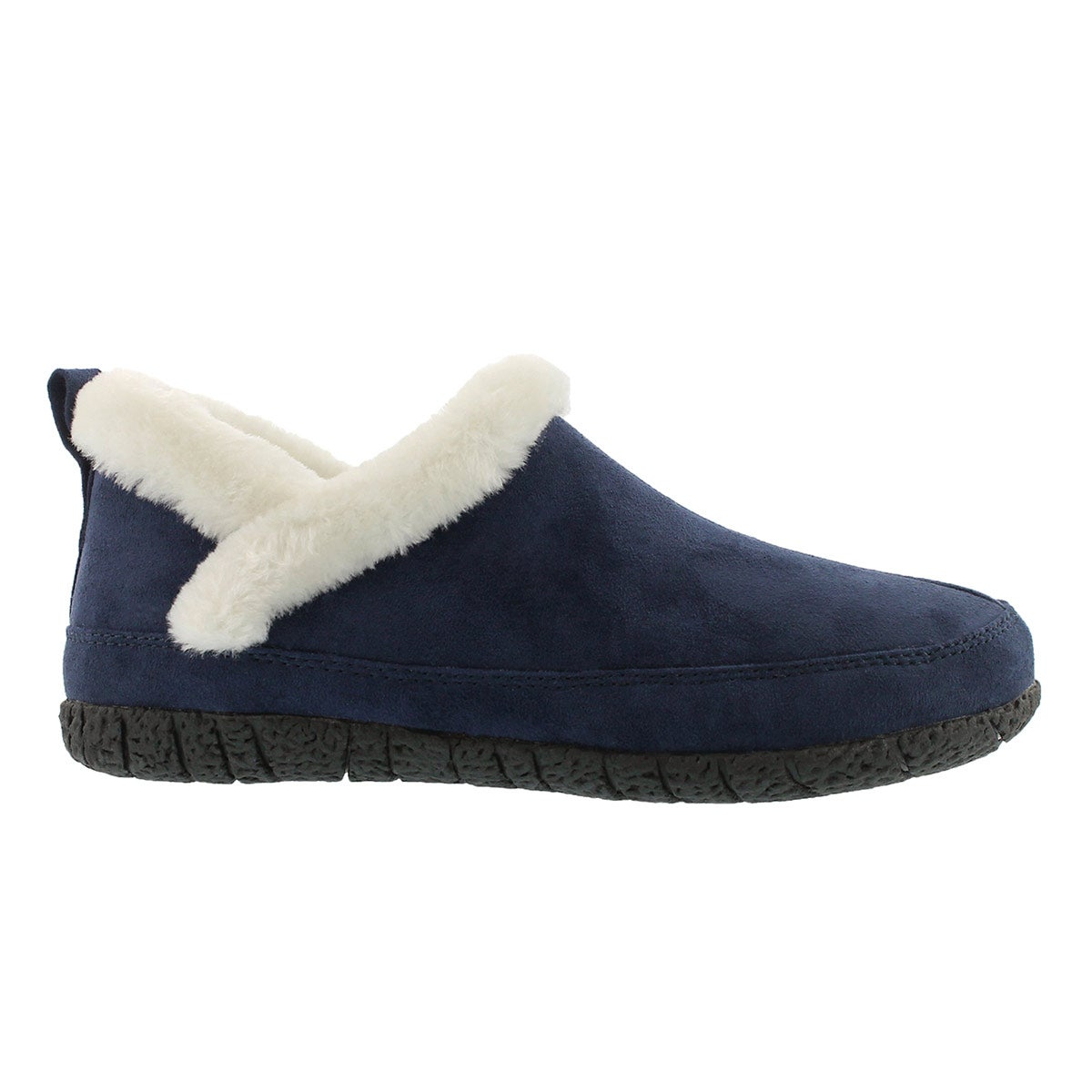 Lds Ruby 2 navy closed back slipper