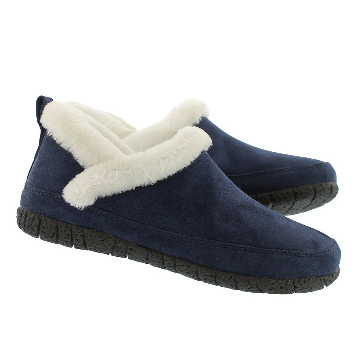 Lds Ruby 2 navy closed back slipper