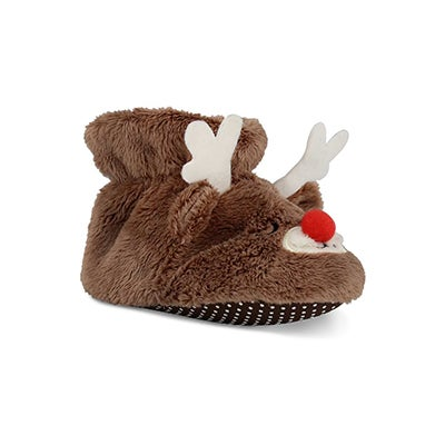 Infs Rudy tan slipper booties