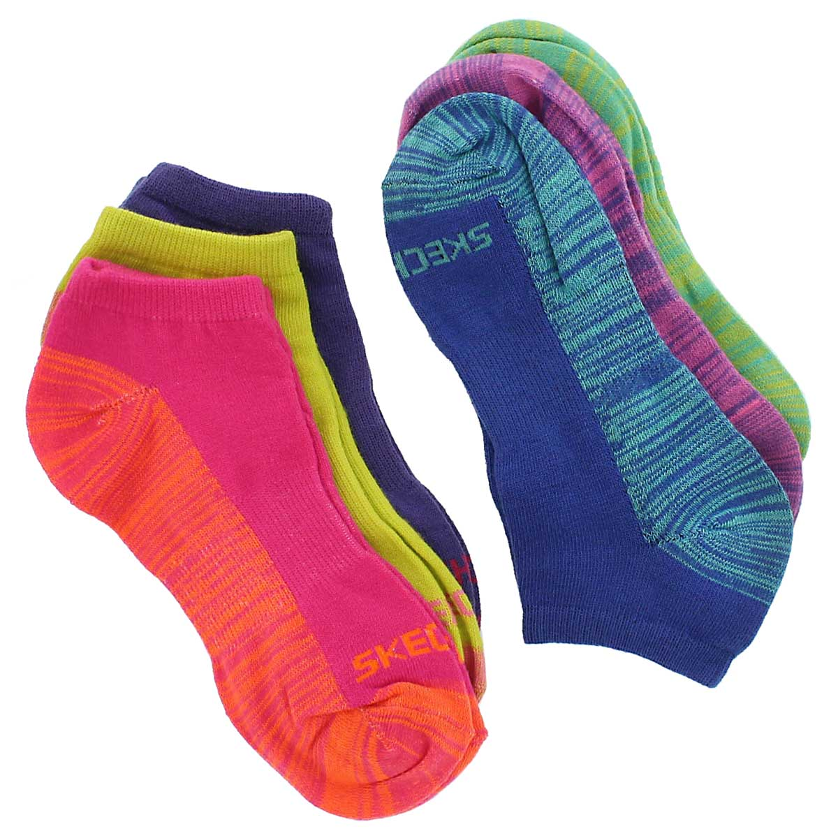 Grls Low Cut Non Terry multi socks