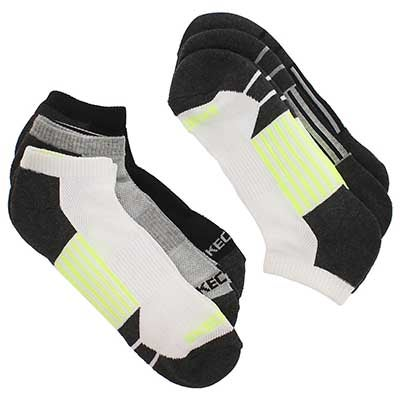 Skechers Men's 1/2 TERRY CREW white/yellow socks - 6 pk