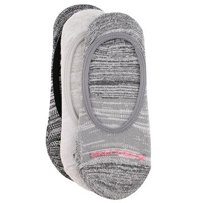 Skechers Women's SUPER LOW grey cushioned liners - 3pk