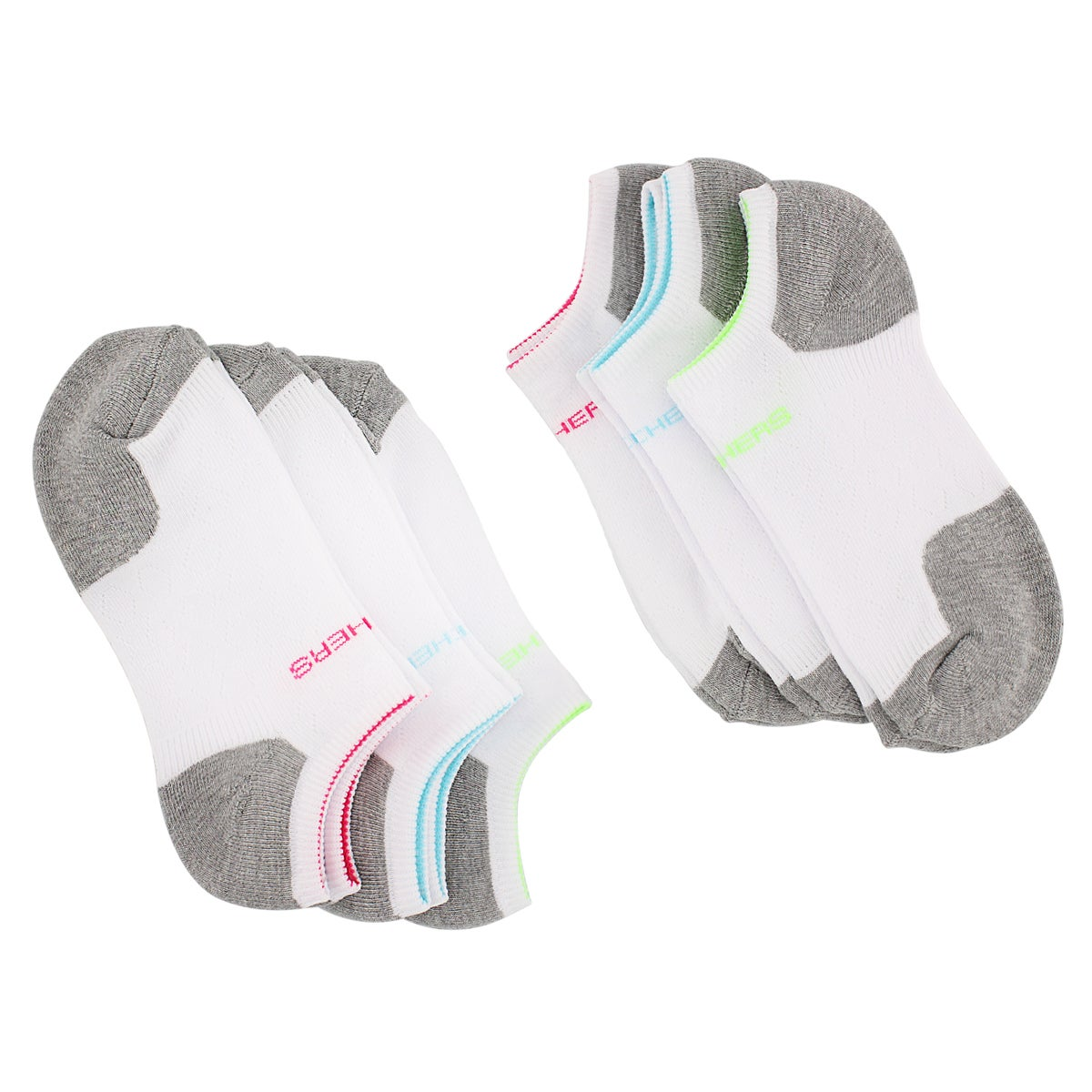 Socquettes SelectCushion, blc/rs, fem-6p