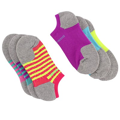 Women's SELECT CUSHION multi no show socks - 6pk