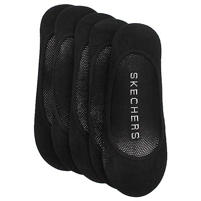 Skechers Women's Super Low black microfiber liners - 5 pk