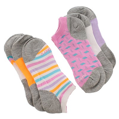 Skechers Women's LOW CUT NO TERRY multi ankle socks - 6pk