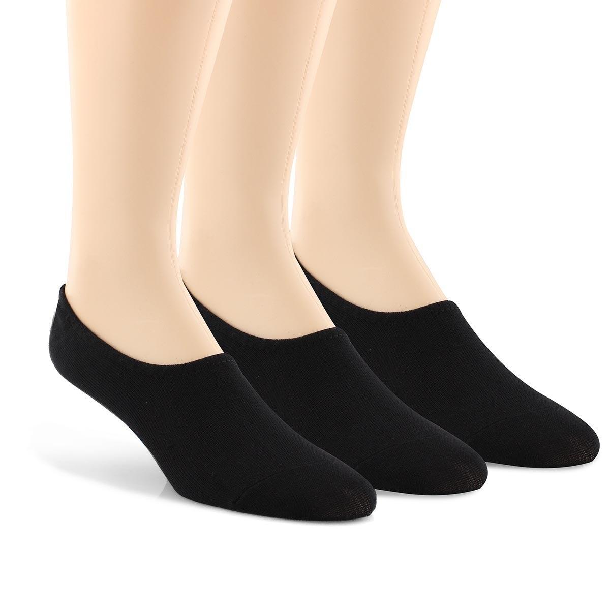 Mns Non Terry No Show black socks 3pk