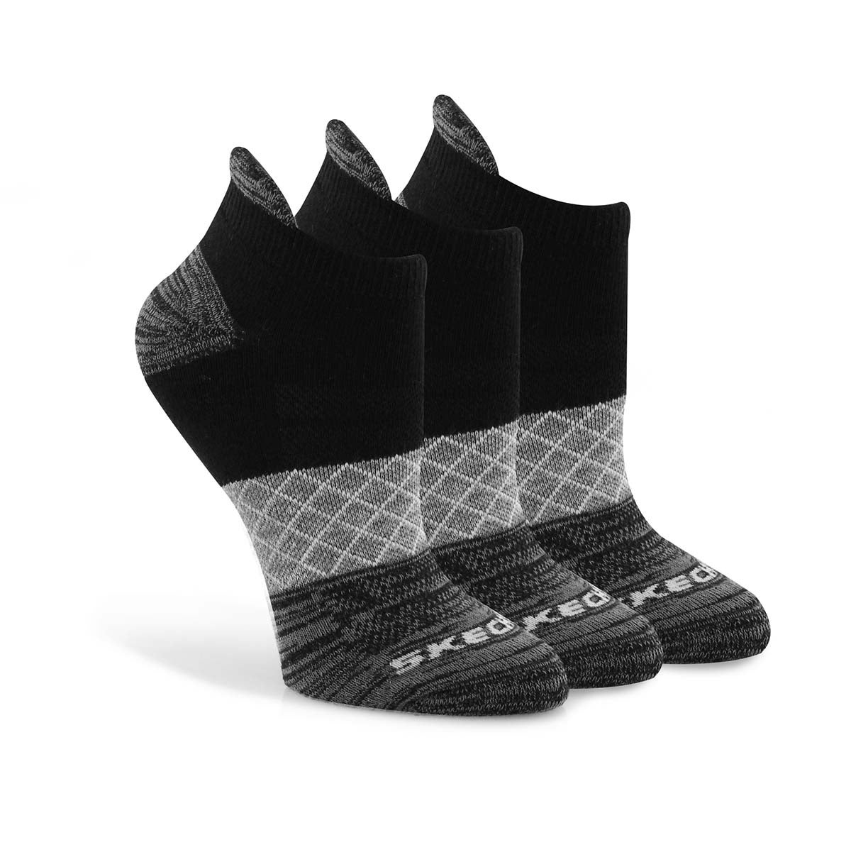 Lds Half Terry Low Cut blk/pnk socks 3pk