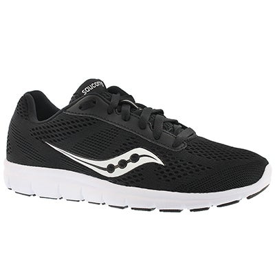 Saucony Women's IDEAL black/white lace up running shoes