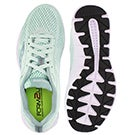 Lds Ideal mint/wht lace up running shoe