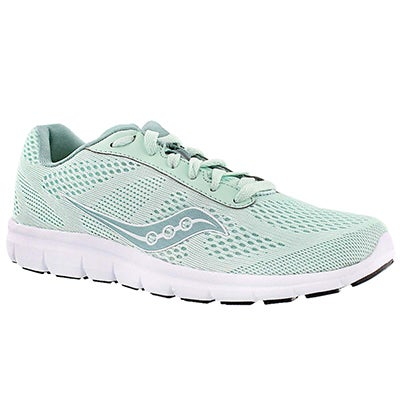 Saucony Women's IDEAL mint/white lace up running shoes