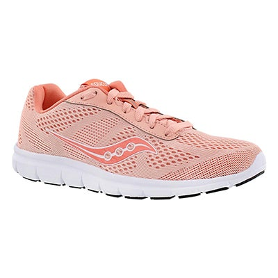 Saucony Women's IDEAL coral/white lace up running shoes