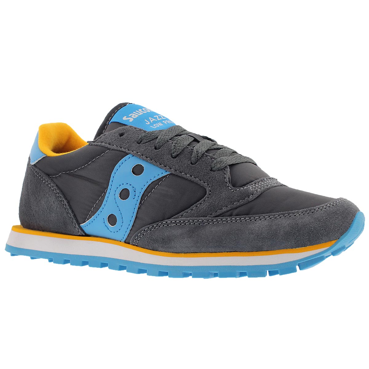 Women's JAZZ LOW PRO charcoal lace up sneakers