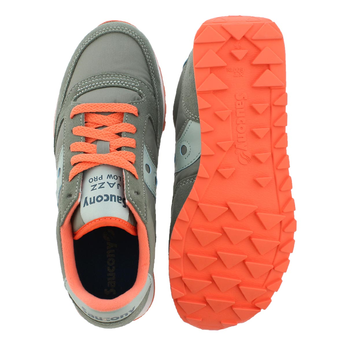 Lds Jazz Low Pro gry lace up sneaker