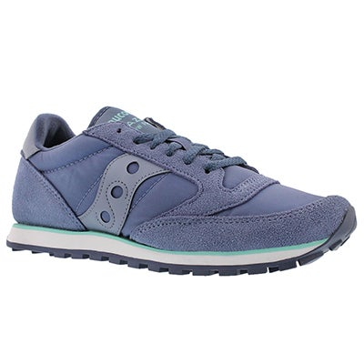 Saucony Women's JAZZ LOW PRO purple lace up sneakers
