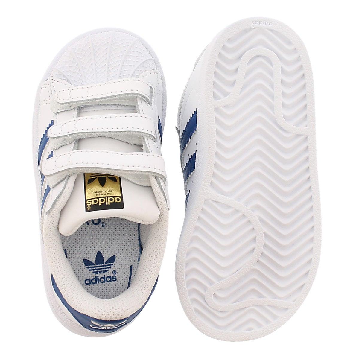 Infs Superstar wht/blu sneaker