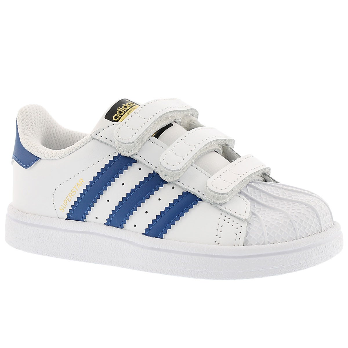 Infants' SUPERSTAR FOUNDATION wht/blu sneakers