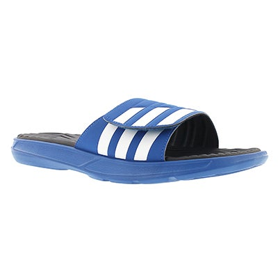 Adidas Men's IZAMO blue/white slide sandals
