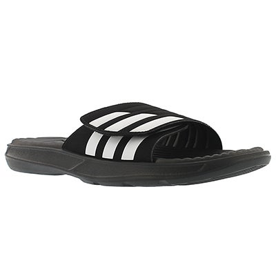 Adidas Men's IZAMO black/white slide sandals