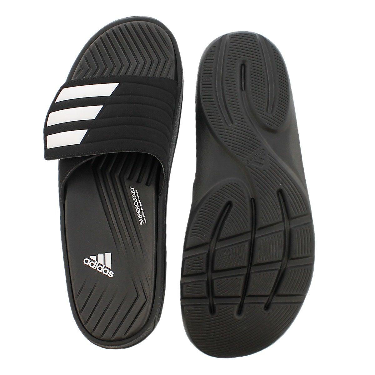 Mns Izamo black/white slide sandal