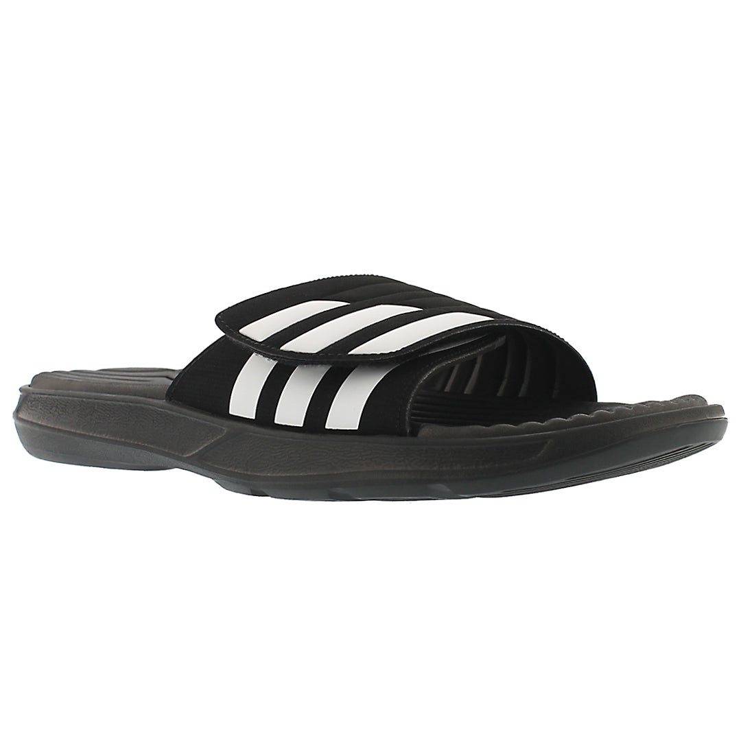 Mns Izamo black/white slide sandal